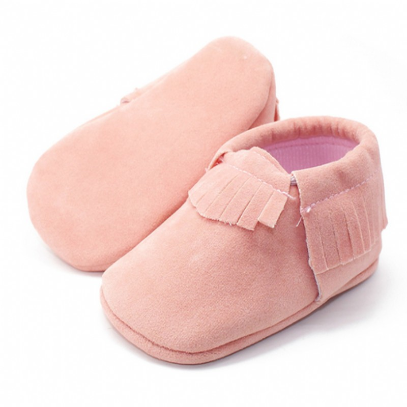 2017 Infant Toddler Shoes Baby Moccasin Soft Sole Suede Fringe pu Leather Shoes first walker girls boys shoes