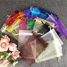 4039f48f7 7x9 9x12 10x15x11x16 13x18 15x20x17 23 20x30x25x35 cm 50 piezas a de  embalaje de la joyería dibujable bolsas de Organza bolsas d.