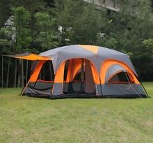 6 8 10 12 personas 2 dormitorios 1 sala anti lluvia toldo dom refugio partido familia playa senderismo pesca acampar al aire libre tienda de campaña