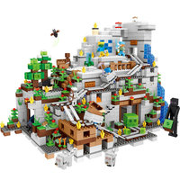 2304pcs Lepined Building Blocks Minecrafted Series The Mountain Cave Steve Alex Gifr For Child Action Figure 2019