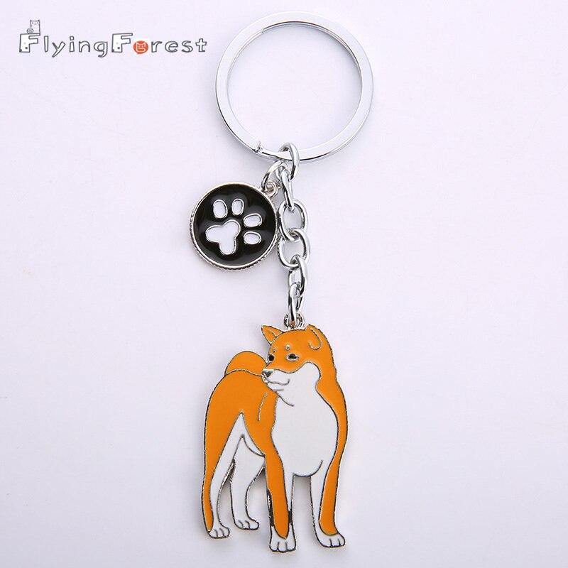2019 neue japanische Akita Schlüsselanhänger Frauen Geschenke Metall Haustier Hunde Schlüsselanhänger Welpen Schlüsselanhänger Tag Hund Schlüsselanhänger für Liebhaber Großhandel
