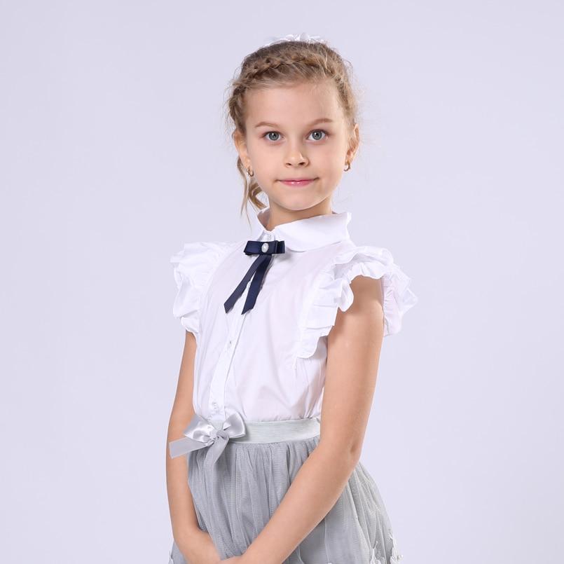white blouses for girls christmas costumes short sleeve