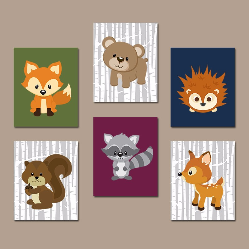 Woodland Nursery Wall Decor : Popular pictures forest animals buy cheap