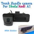 Alça Tronco Câmera de Estacionamento CCD Para Skoda/Octavia/Fabia/Superb/Roomster/Yeti/Audi/A1 Car Rear View Backup Invertendo Com Botão
