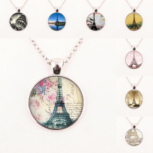 New Fashion Glass Dome Necklace Vintage Eiffel Tower Necklace Eiffel Tower Pendant Paris Jewelry HZ1