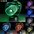 2016 Hot The new entertainment camera 7 color 3D LED Night Light All Colors Flash In Turn and gift to friend