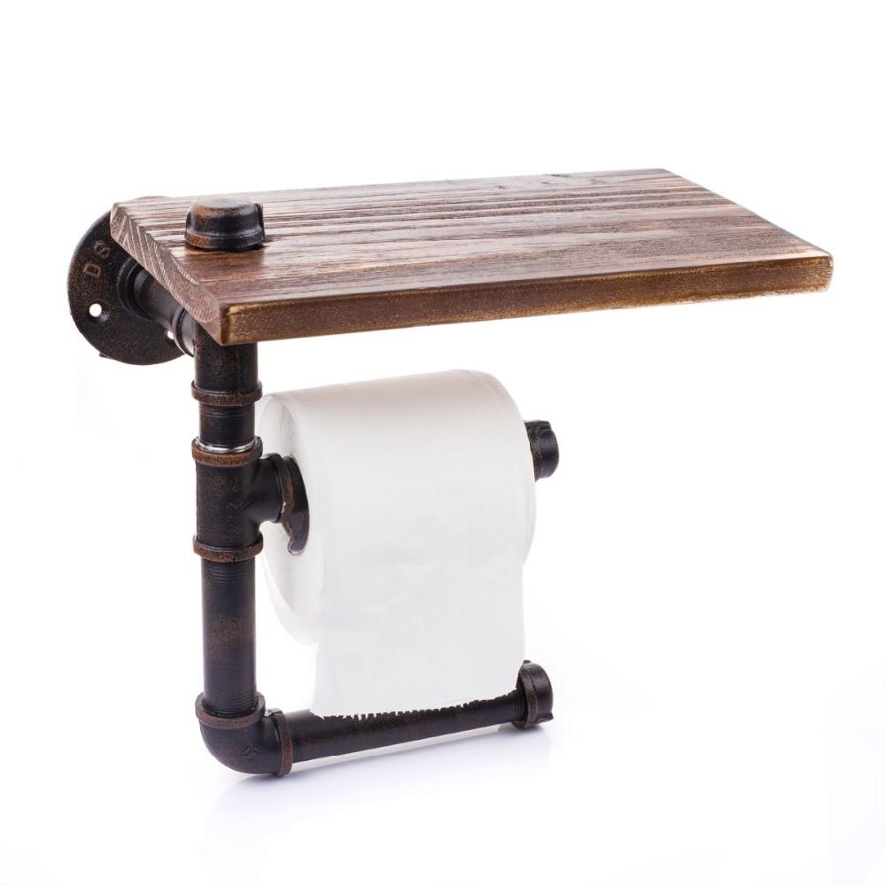 vintage bathroom retro two tier water pipe paper holder