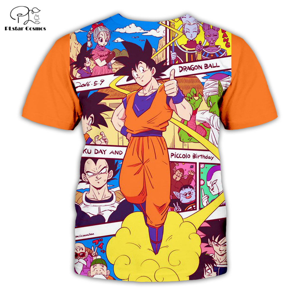 PLstar Cosmos Summer T Shirts Anime Printed Dragon Ball Z 3D T Shirt and shorts Mens for boy Goku Suit Free shipping in T Shirts from Men 39 s Clothing
