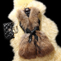 PU и искусственного меха лоскутная женщины шуба зима согреться кожаный жилет без рукавов с поясом искусственного меха жилет ch560