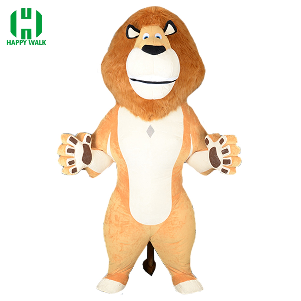 Lion Inflatable Costume Lion Mascot Inflatable Costume Halloween Costumes For 2M Tall Suitable For 1.6m To 1.85m Adult