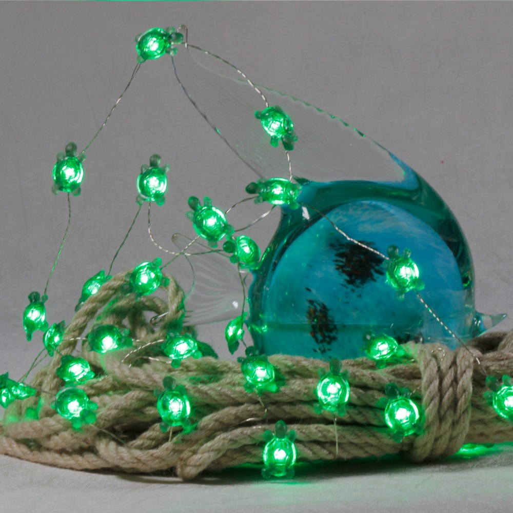 USB Battery POW Land Turtle Ocean Decor Dimmable Remote 10ft Home Party Lights