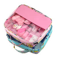 13 pçs/bebê grooming cuidado manicure conjunto de cuidados de saúde termômetro clippers do prego pente emery ferramenta escova de cabelo infantil cuidados de segurança recém-nascidos
