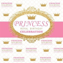 Laeacco Princess Crown Scene Baby Girl Birthday Party Photography Background Customized Photographic Backdrops For Photo Studio allenjoy photographic background european royal family living room backdrops princess boy studio fabric 7x5ft