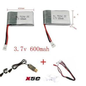 Image 4 - x5c x5 x5sc x5sw 2.4G RC quadcopter 3.7v 600mah Li polymer battery with USB cable