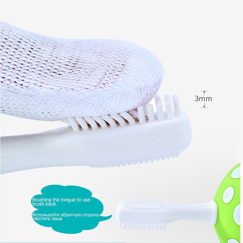 NYHET 2 huvud svamp silikon baby teether barn tandvård barn - Barnomsorg - Foto 4