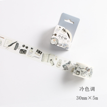 Leisure Time Series Washi Tape Adhesive Tape DIY Scrapbooking Sticker Label Masking Tape Student Stationery Gift(China)