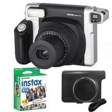 Fujifilm Instax Breed 300 Film Camera Zwart + 20 Vellen Fuji Instant 210 Film Fotopapier + Soft Case Cover Bag Huid Shell