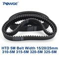 Синхронный ремень POWGE HTD 5M C = 310/315/320/325 ширина 15/20/25 мм зубцы 62 63 64 65 HTD5M 310-5M 315-5M 320-5M 325-5 м