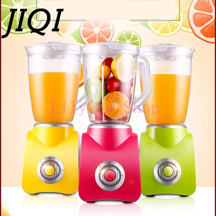 JIQI Portable Multifunction household electric juicer fruit juice maker machine vegetable squeezer mixer cooking machine EU US glantop 2l smoothie blender fruit juice mixer juicer high performance pro commercial glthsg2029