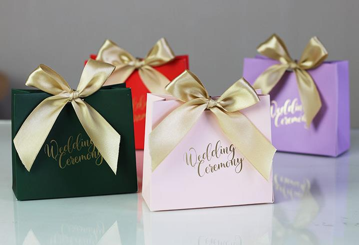 Chocolate Wedding Favors.Us 30 45 13 Off Wedding Favors Candy Box Gift Bags With Ribbon Chocolate Box Party Sweets Gift Favours Wrap Engagement Anniversary Decoration In