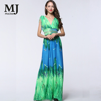 MaiJee 2017 Nowy Nowych Kobiet Odzież Damska Elegancka Sukienka Letnia Sukienka Elegancka Plaża Chiffon Praia Czeski Sukienka Vestidos