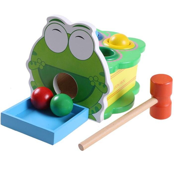 Детские игрушки Лягушачий молоток Деревянные игрушки Раннее начало обучения Учебные блоки Образование / Обучение Детский подарок Монтессори