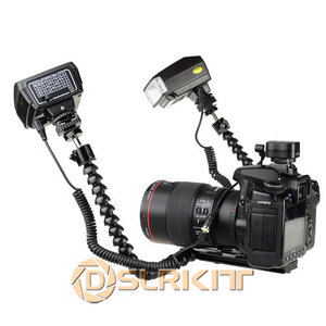 Image 3 - Macro Shooting Dual arm Bracket and Mini Flash Pc sync Set for Nikon