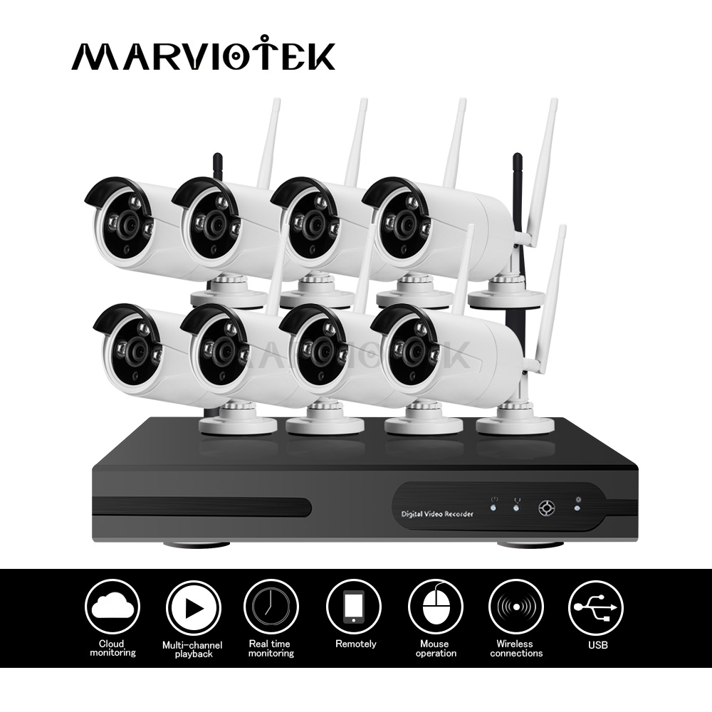 4CH CCTV Camera System Wifi Outdoor wireless camera security system Video Surveillance 1080P ip camera wifi nvr kit Waterproof
