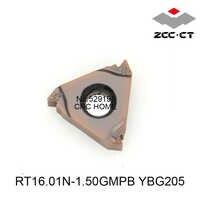 ZCC Originale RT16.01N-1.50GMPB YBG205 RT16 Threading tornio Strumenti Inserto In Metallo Duro ZCCCT per la Tornitura Portautensili CNC utensili tornio
