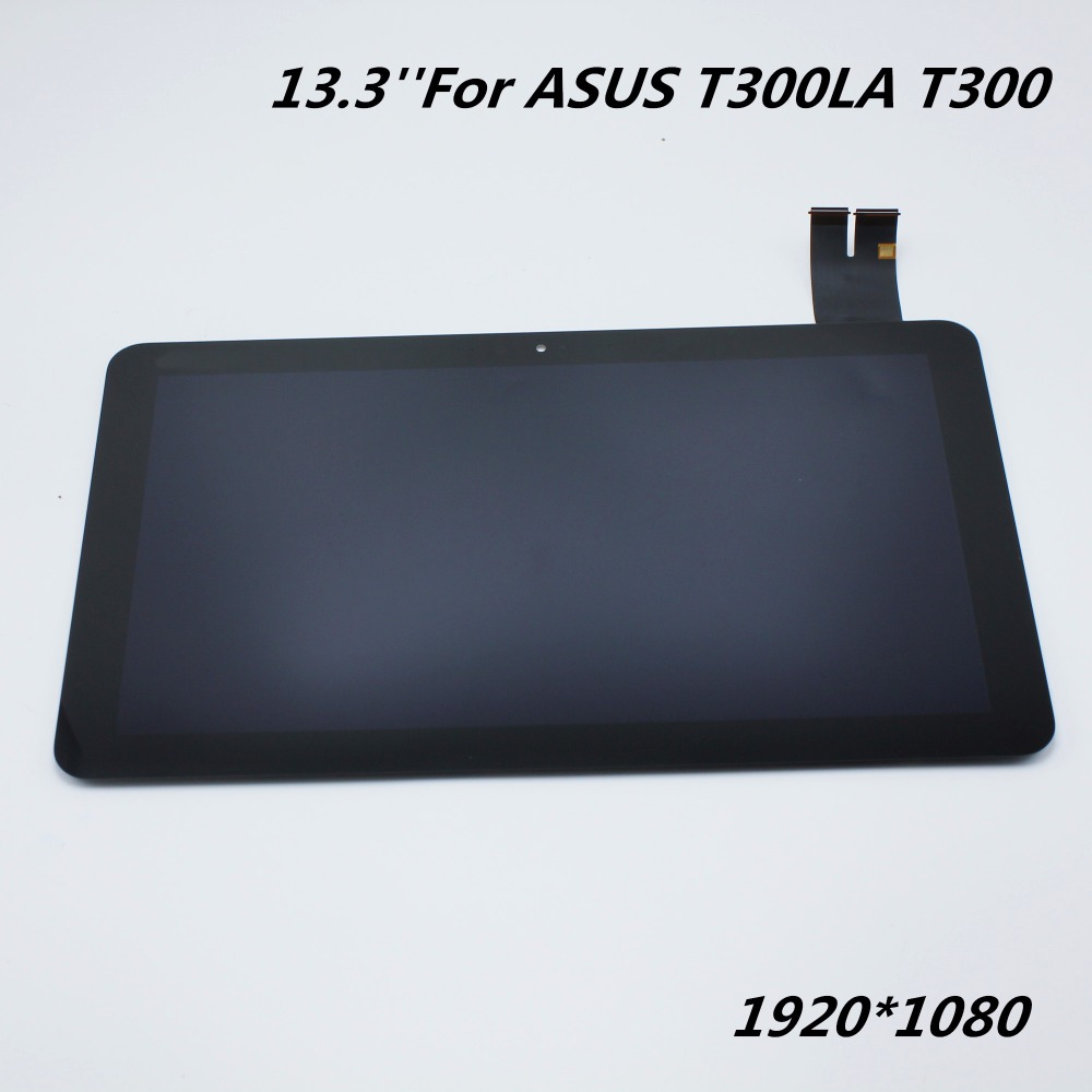 For ASUS T300LA T300 M133NWF2 Full LCD Display Monitor + Touch Screen Panel Digitizer Sensor Assembly with Frame Replacement  for asus transformer pad tf700 v0 1 black full lcd display monitor with digitizer touch panel screen glass assembly with frame