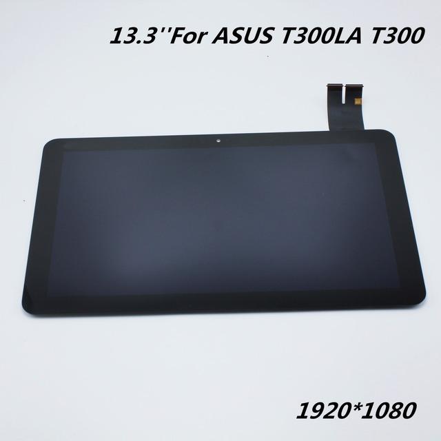 Para asus t300la t300 m133nwf2 panel monitor de pantalla lcd full + pantalla táctil digitalizador asamblea con marco de reemplazo del sensor