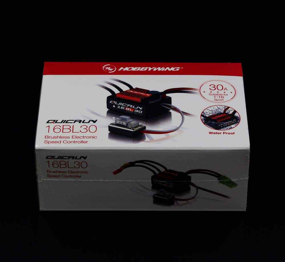 Original Hobbywing QuicRun 16BL30 30A a sin escobillas ESC para 1/16 en carretera/Off-road/Buggy/monstruo RC Coche
