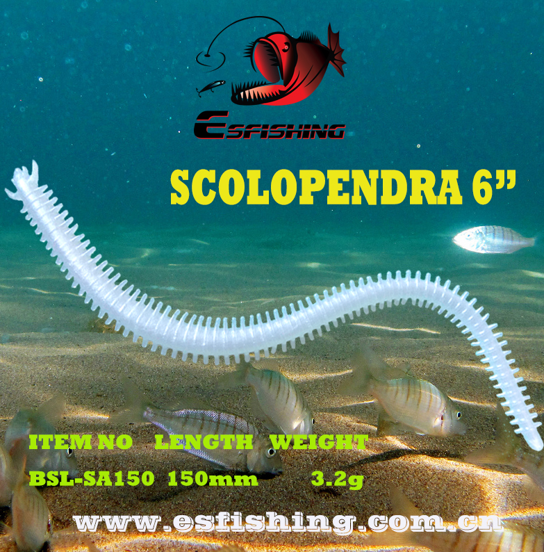 Fishing Lure Soft 10pcs 15cm/3.2g Esfishing Artificial Soft Bait Scolopendra 6 Worm Swimbait Tackle Lifelike berkley sandworm lure gssw6 15cm 10pcs bag worm bait soft fishing lure artificial bait saltwater freshwater fishing lure
