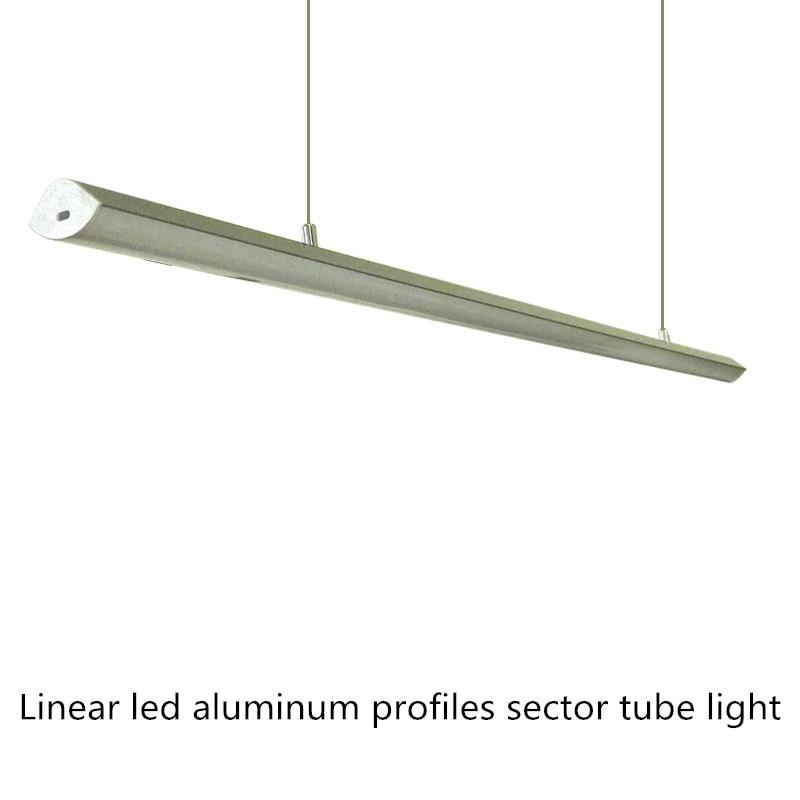 2pcs Sector led Aluminium Profile 5050/2835 LED rigid Strip for Home/Kitchen/closet/Jewelry Showcase 1800LM LED bar light