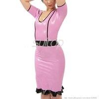Pink Latex Dress Rubber Sexy Club
