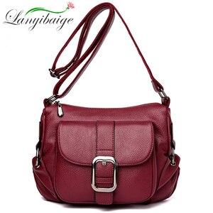 Image 1 - Dames Luxe Merk Handtassen Sac A Main Crossbody Tassen voor Vrouwen Lederen Schoudertassen Vrouwelijke Messenger Bag Kleine Zachte Flap tas