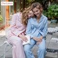Cotton & Linen Autumn Casual Homewear Full Sleeve Women Pijama Sleepwear Turn Down Collar Pajama Sets High Quality Female Pyjama