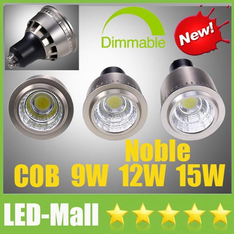 2017 Stylish CREE COB 9W 12W 15W LED Spotlights GU10 E27 E14 MR16 GU5.3 CRI>88 Display Cabinet Spot Down Lights Bulbs Lamp CE UL