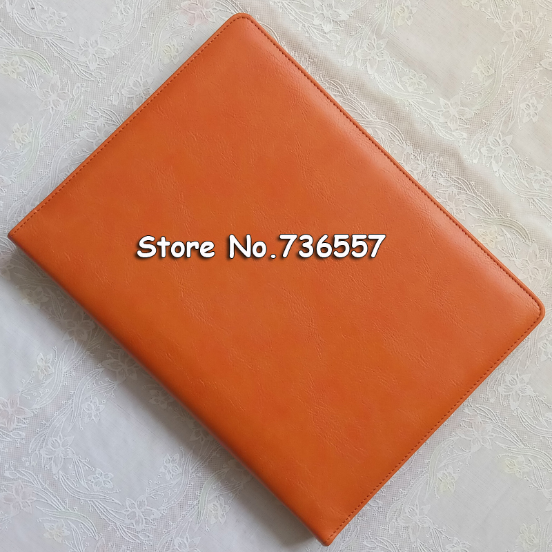 A4 business leather portfilio manager document file folder holder brief case with solar calculater phil collins singles 4 lp