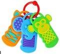 Bebê Mordedor de Silicone de Alta Qualidade 3 M + Sensorial Brinquedos Chave de Bpa Livre Silicone Dentição Infantil 3 pçs/lote Mordedor Para bebê C029