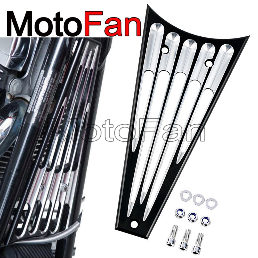 Custom Motorcycle Frame Grill Radiator Cover Guard for Harley Davidson Touring Road King Glide CVO FLHR FLHRC FLHRSE5 2009-2013