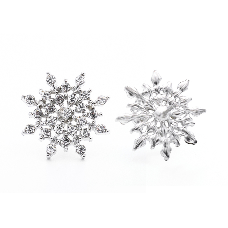 ᐂQcooljly plata/oro color señoras cristal copo de nieve bijoux ...
