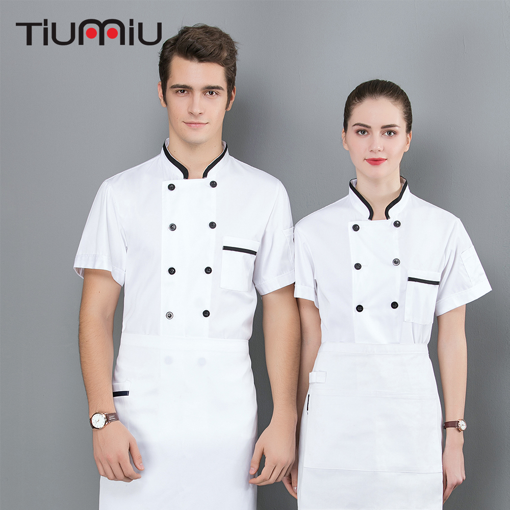 2019 New 3 Colors Chef Jacket Barbr Cool Short Sleeves Chef Jackets Bakery Hotel Food Service Restaurant Chef Work Clothes