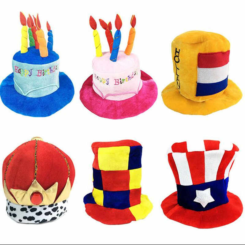 2018 Funny Clown Hat Masquerade Football Beer Caps Carnival Party Hats Kids Adults Stage Performance Wear