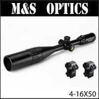 MARCOOL 4-16X50 Red Green Mil Dot Sights Reticel Airsoft Air Guns Hunting Optical Sight Riflescope Scope With Sunshade & Mount