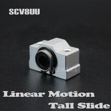 1 шт. SC8V SCV8UU 8 мм Линейный Подшипник Втулка короткий раздвижной блок внутри содержит LM8UU линейный шариковый подшипник для 8 мм линейный вал
