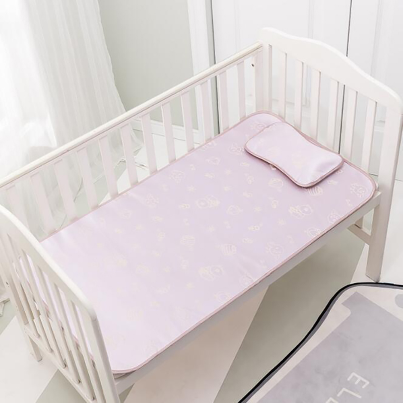 Newborn Summer Cool Mat Baby Mattress Crib Baby Bed Mat Cartoon Sheet Pad With Pillow 2pcs/set Printing BHS017