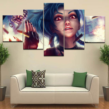 Buy league of legends panel and get free shipping 5 Panel HD Print wall posters Canvas Art Painting For home living room decor