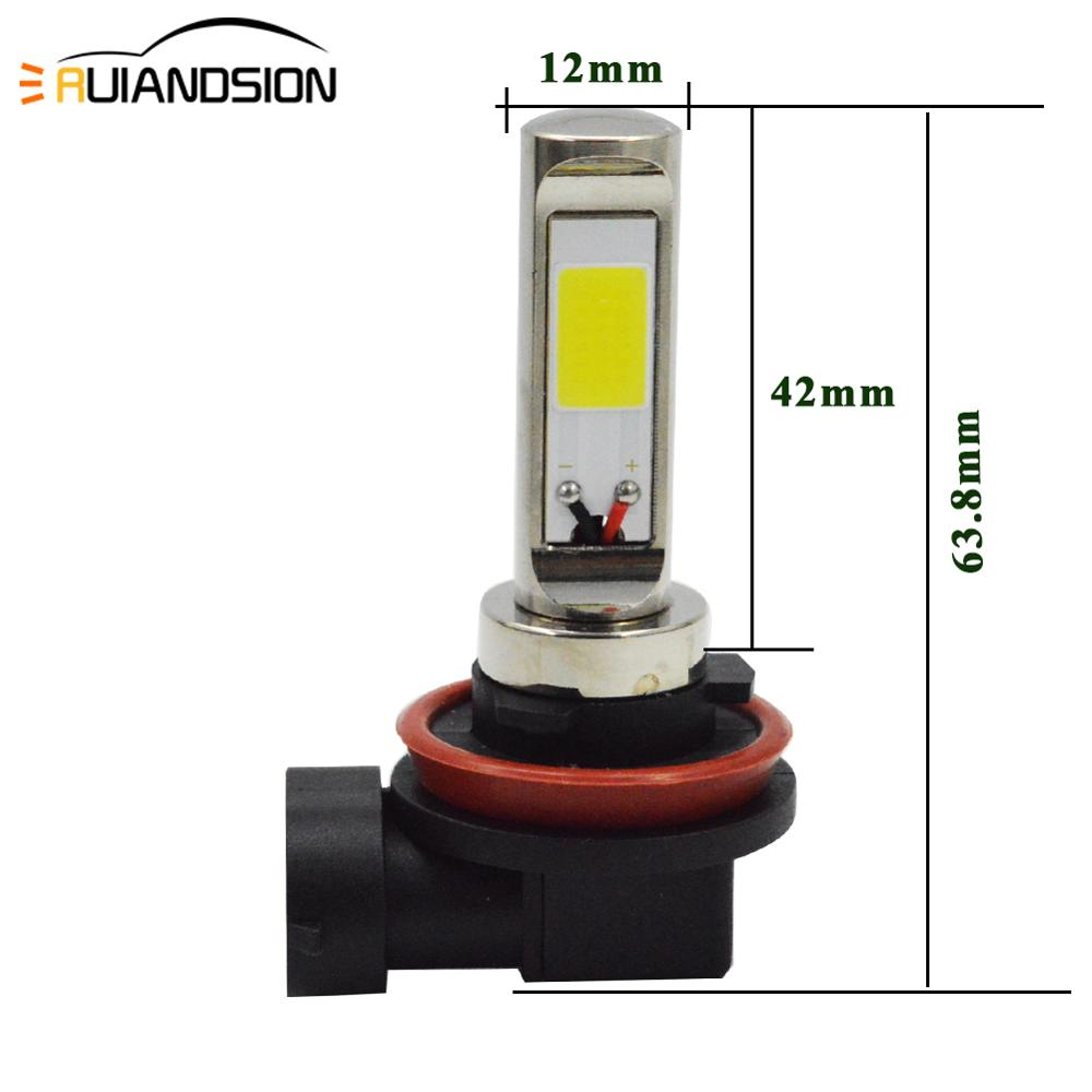 2Pcs Lot Amber White H1 H3 H7 H8 H11 80W COB LED Fog Light Driving Bulbs Canbus Error Free for BMW E71 X6 M E70 X5 E83 F25 x3 in Car Headlight Bulbs LED from Automobiles Motorcycles