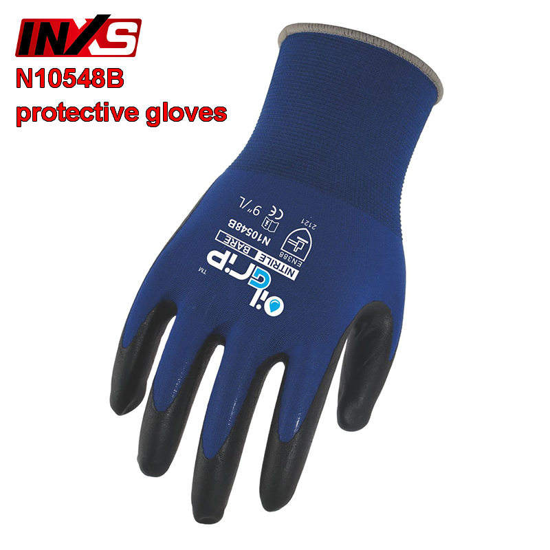 INXSN10548B Mechanical gloves Nylon lining Palm marking Comfortable protective gloves Oil resistant Wear resistant safety gloves strong 0 35mmpb medical x ray protective gloves ray workplace use gloves lead rubber gloves